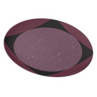 "Punt/Plate ""Geometry "" Dinner Plate"