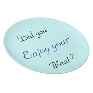 "Punt/Plate ""Good meal "" Dinner Plate"