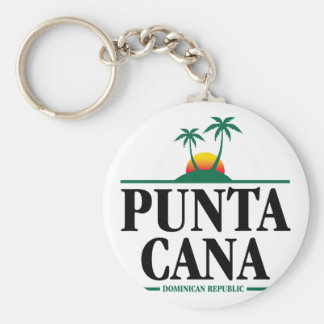 Punta Cana Basic Round Button Keychain