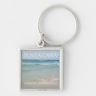 Punta Cana, Dominican Republic Beach and Ocean Keychain