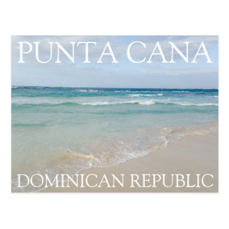 Punta Cana, Dominican Republic Relaxing Beach Postcard