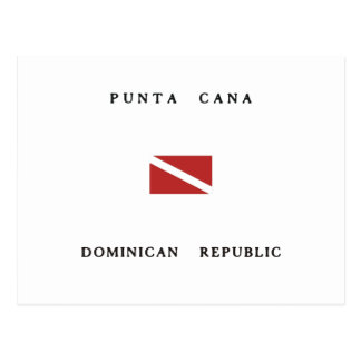 Punta Cana Dominican Republic Scuba Dive Flag Postcard