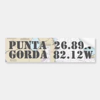 Punta Gorda FL Latitude Longitude Navigation Bumper Sticker