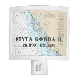 Punta Gorda FL Nautical Chart Coordinates Nite Light