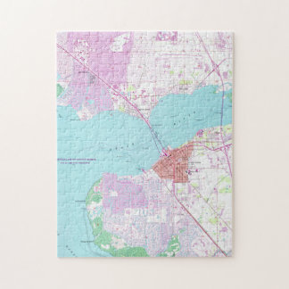 Punta Gorda & Port Charlotte Florida Map (1957) Jigsaw Puzzle