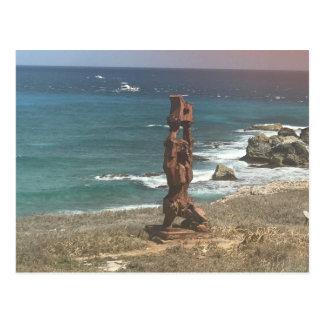 Punta Sur Sculpture, Mexico Postcard