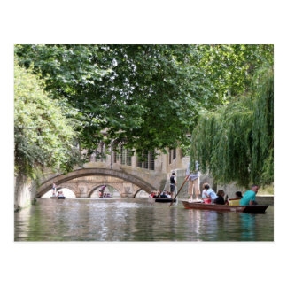 Punting in Cambridge Postcard