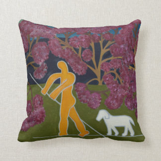 Punting in the River Avon 2011 Throw Pillow