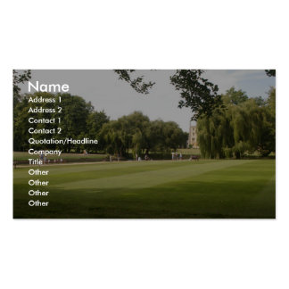 Punting On The Camb. Uk. Business Card
