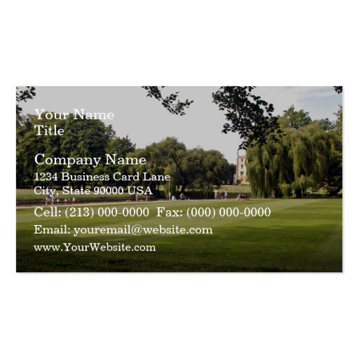 Punting on the Cambridge Business Card