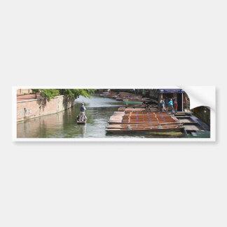 Punts at Cambridge, England Bumper Sticker