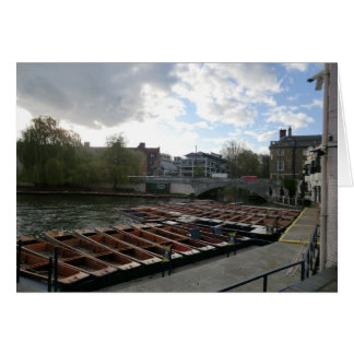Punts on the River Cam in Cambridge Greeting Card