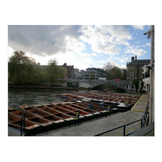 Punts on the River Cam in Cambridge Postcard