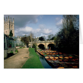 Punts on the River Cherwell at Magdalen Bridge Cards