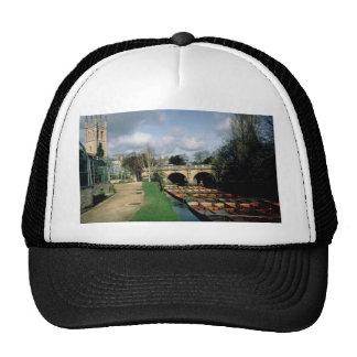 Punts on the River Cherwell at Magdalen Bridge Hat