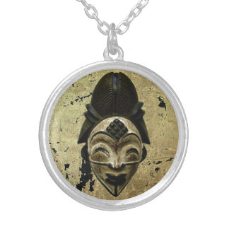 Punu Gabon Silver Plated Necklace