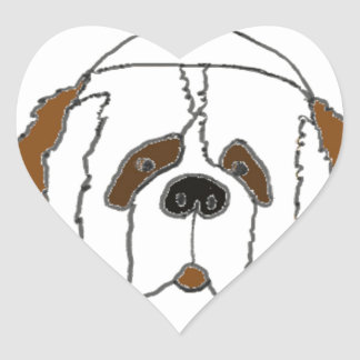 Pup Francis for Small Items Heart Sticker