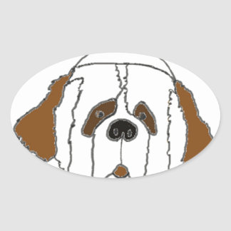 Pup Francis for Small Items Oval Sticker