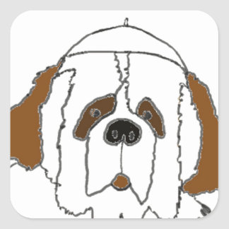 Pup Francis for Small Items Square Sticker