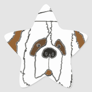 Pup Francis for Small Items Star Sticker