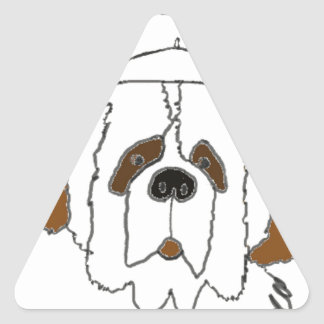 Pup Francis for Small Items Triangle Sticker