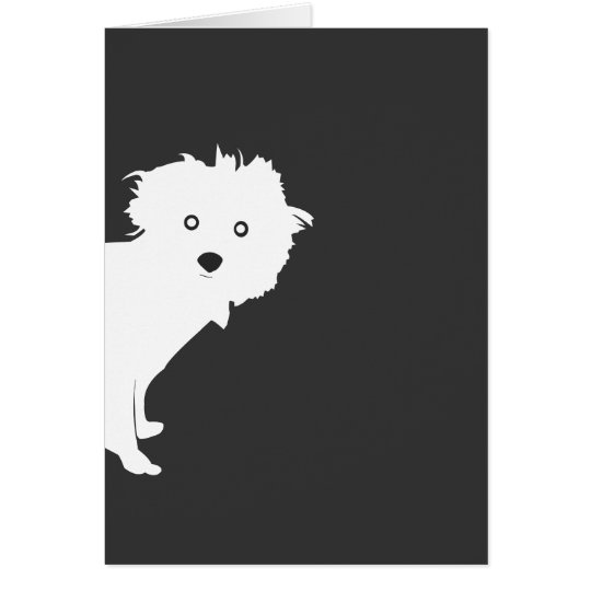 PUP on GRAY Notecard