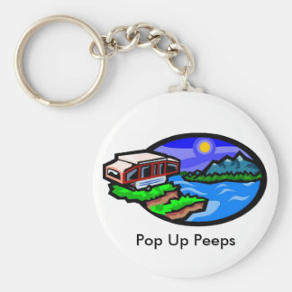 pup, Pop Up Peeps Keychain