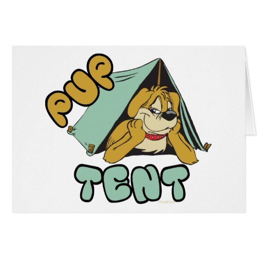 Pup Tent Camping Cards