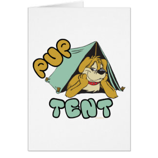 Pup Tent Camping Greeting Cards