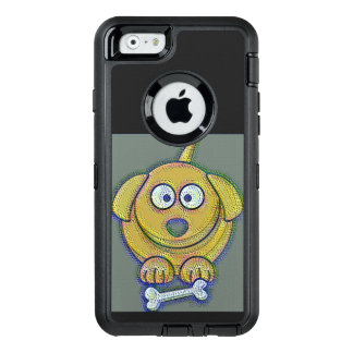 Pup with a bone OtterBox defender iPhone case