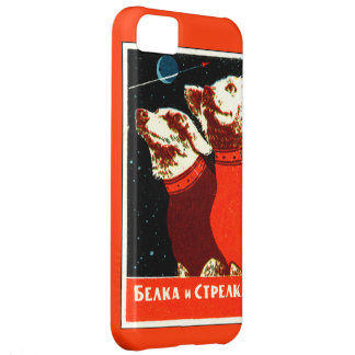 Pupniks Belka & Strelka Soviet Space Dogs iphone5 Cover For iPhone 5C