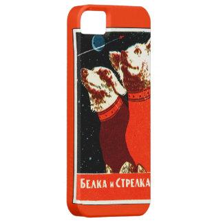 Pupniks Belka & Strelka Soviet Space Dogs iphone5 iPhone 5 Cases
