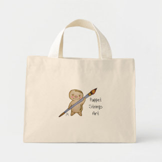 Puppet Strings Art Puppet Logo Mini Tote Bag