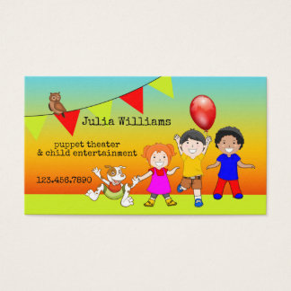 Puppet Theater Child Entertainment Business Card