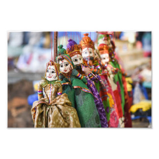 Puppets dolls on string from Rajasthan India Photo Print