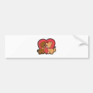 Puppies in Love Bumper Sticker