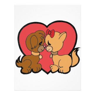 Puppies in Love Customized Letterhead