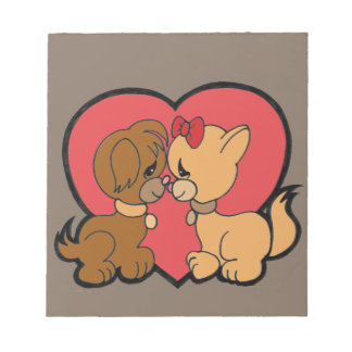 Puppies in Love Notepad