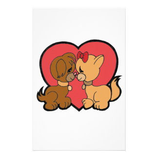 Puppies in Love Stationery