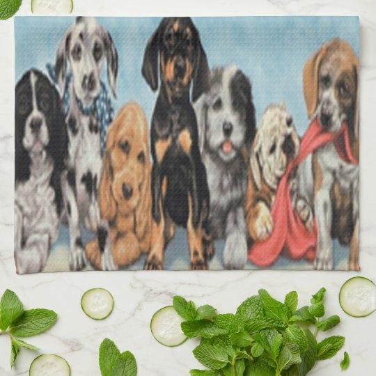 Puppies Kitchen Towel
