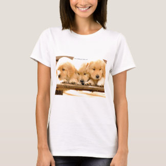 Puppies! - Ladies Baby Doll T-Shirt