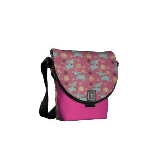 Puppies, Stars, and Flowers Commuter Bag