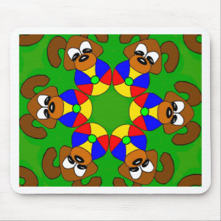 Puppies with colourful balls mouse pad