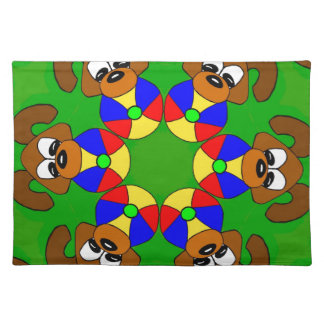 Puppies with colourful balls placemat
