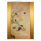 Puppy and Birds Korean painting for Dog Year 2018 Card