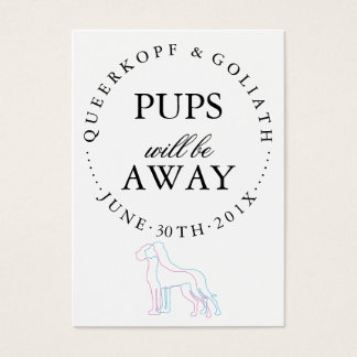 Puppy Announcement Business Card
