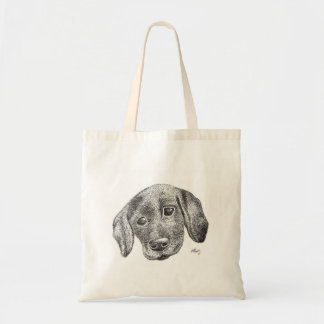 Puppy Art Tote Bag