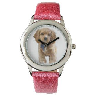 Puppy art wrist watches