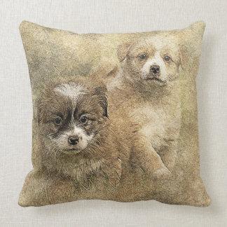 Puppy as Kuschelkissen Throw Pillow