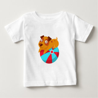 Puppy Balancing On The Inflatable Ball Baby T-Shirt